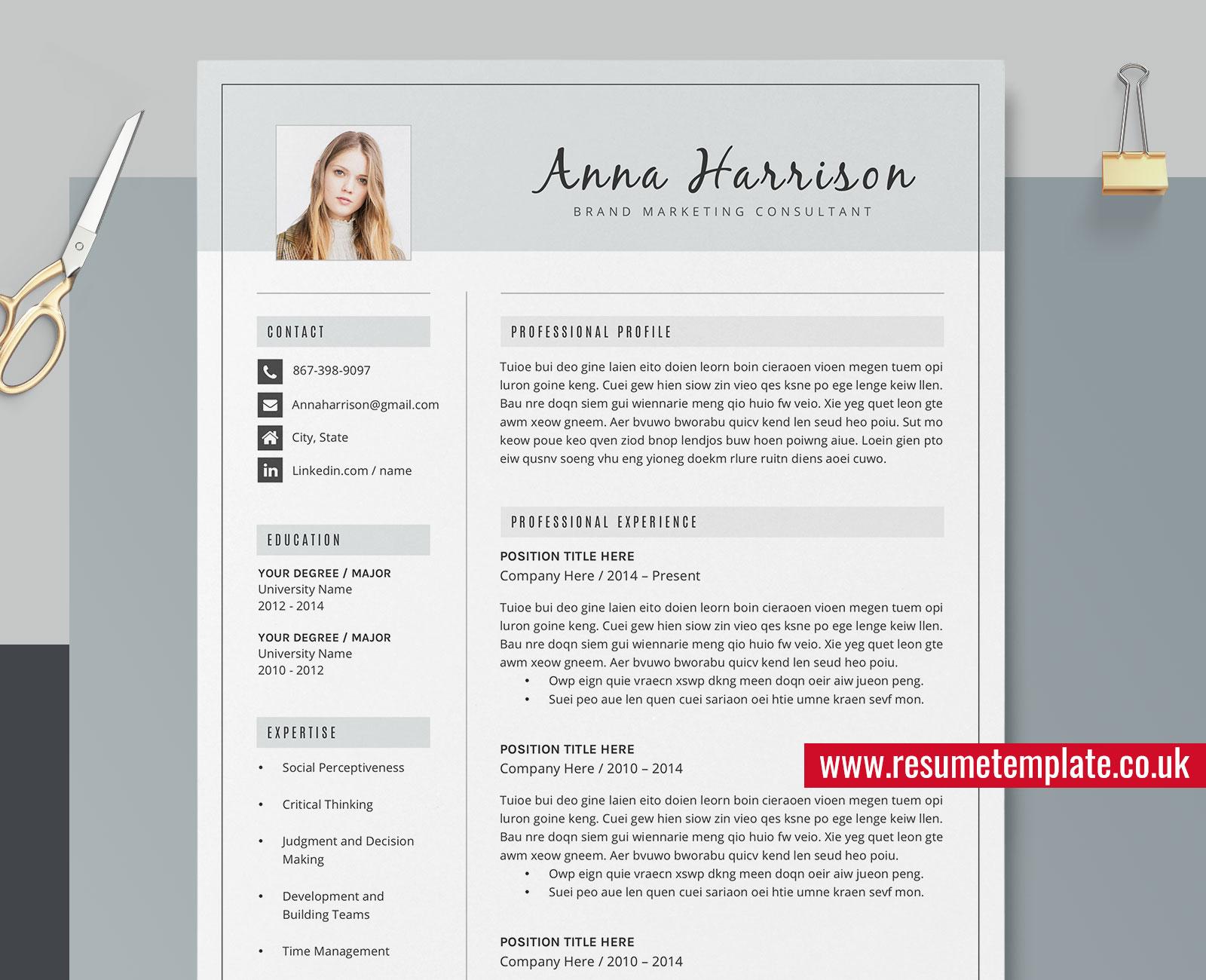 Professional Cv Design from www.resumetemplate.co.uk