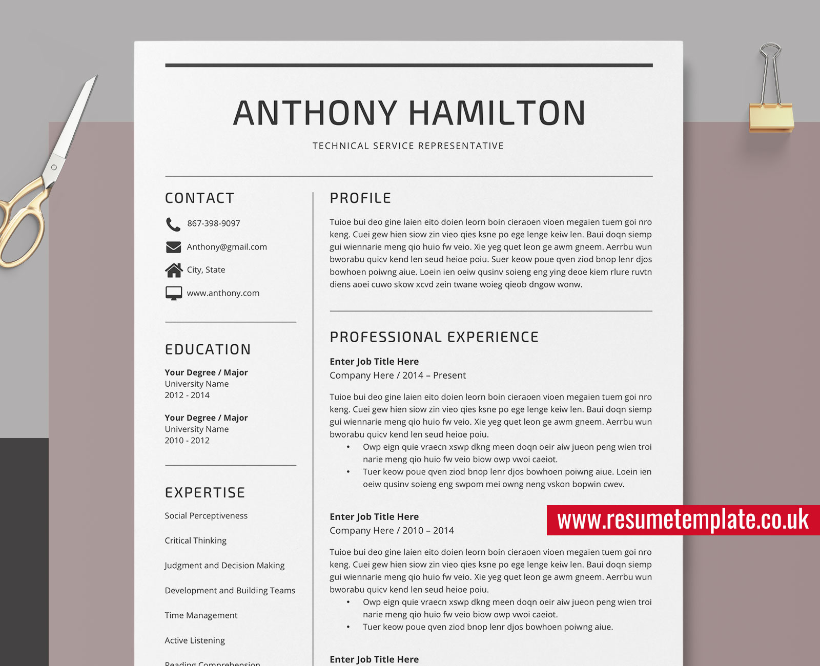 Simple Resume Cover Letter Templates from www.resumetemplate.co.uk