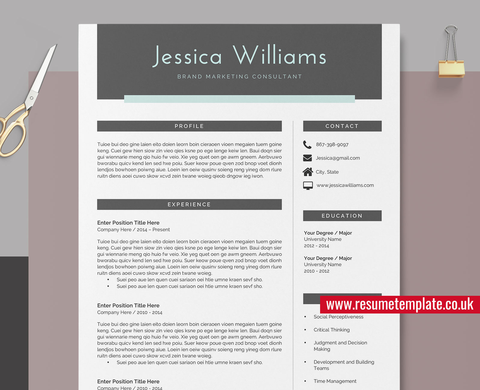 Teaching Resume And Cover Letter from www.resumetemplate.co.uk