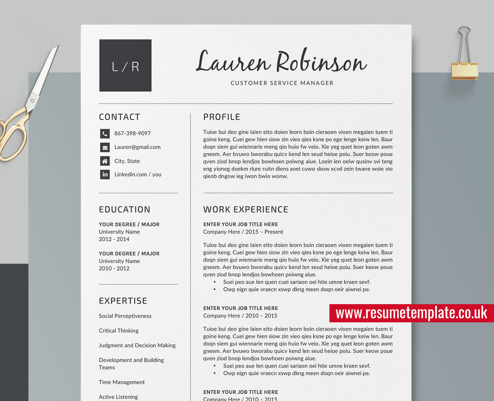 The 50+ Best Resume / CV Templates for 2021: Microsoft Word Resume Templates, for PC and Mac ...