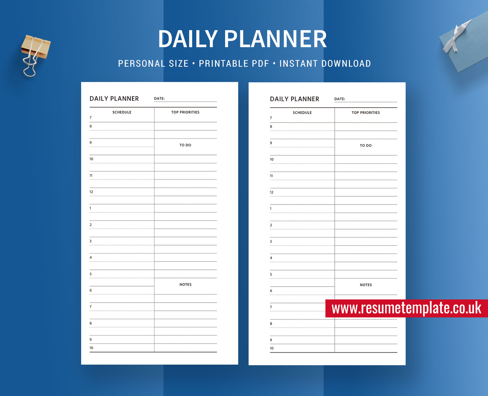 Daily Planner Day Organizer Daily Task Planner Personal Size Planner Printable Planner Inserts Filofax Personal Instant Download Resumetemplate Co Uk