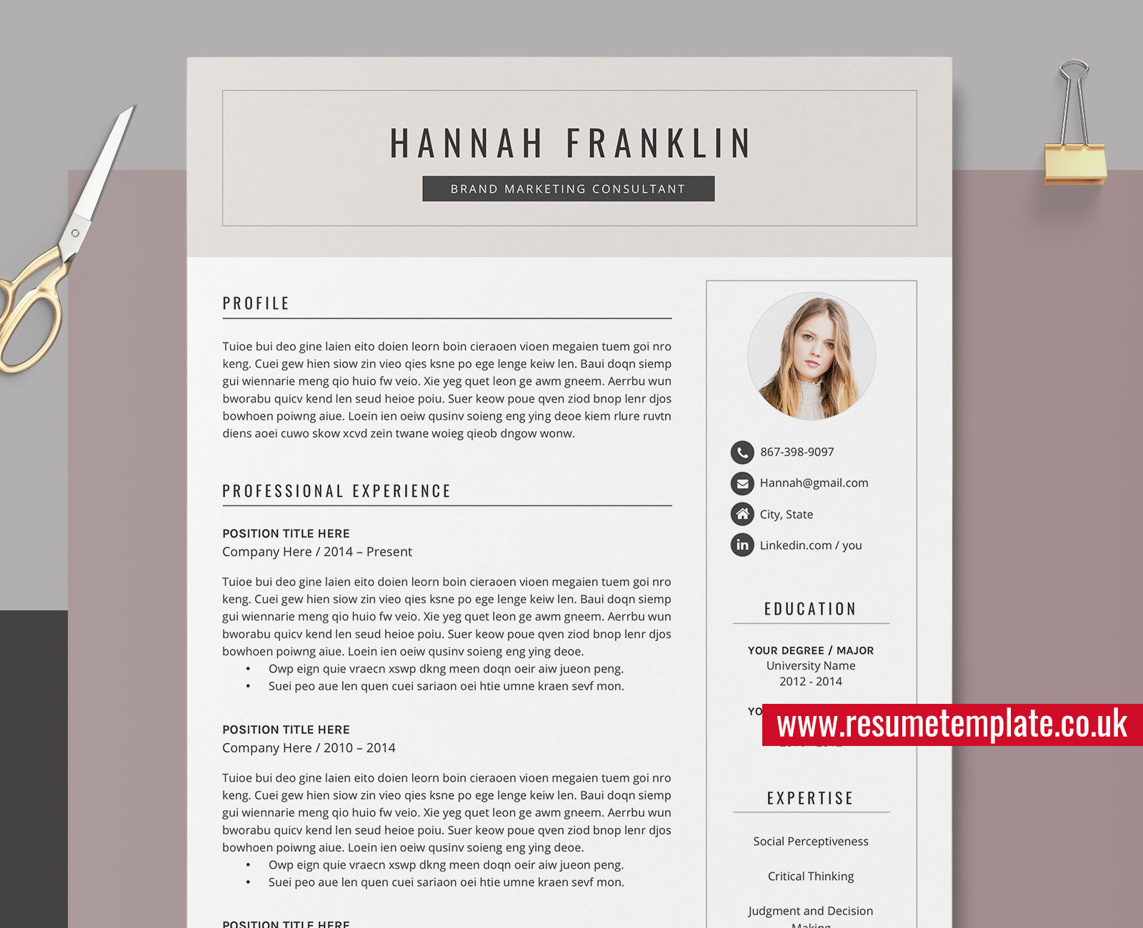 References For Resume Template from www.resumetemplate.co.uk