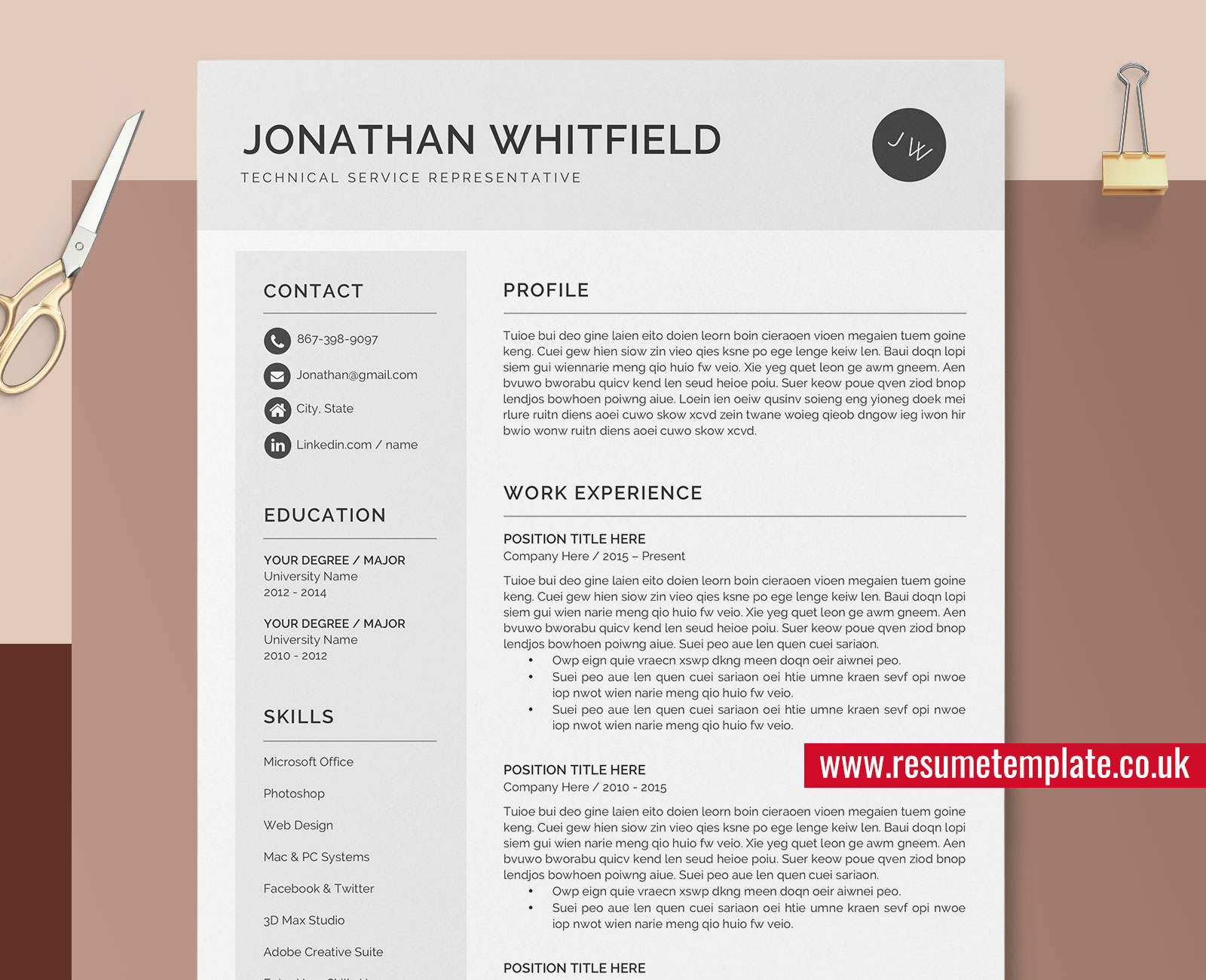 Cool Cv Templates from www.resumetemplate.co.uk