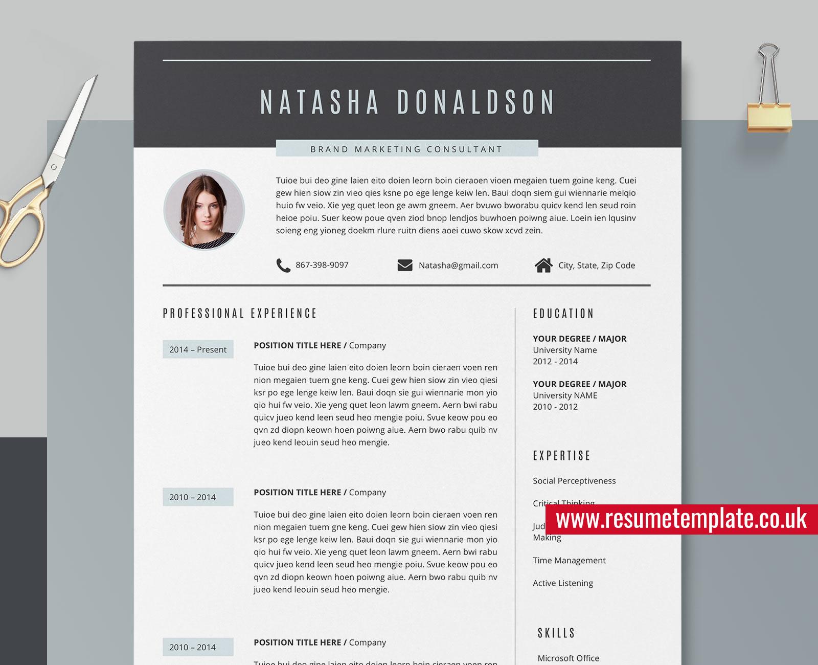 creative resume    cv template  professional resume design