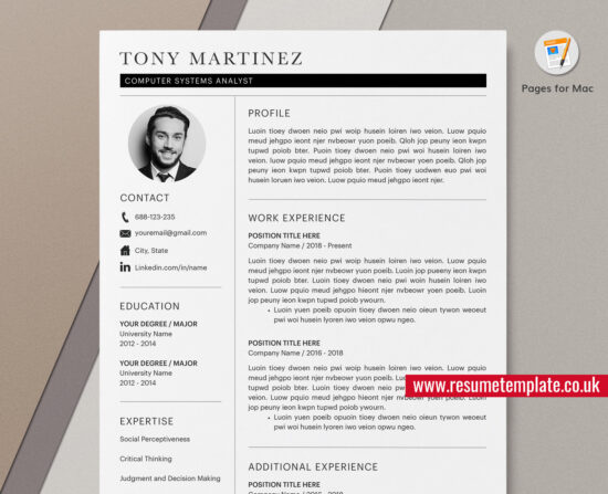 simple resume    cv template  cover letter  curriculum